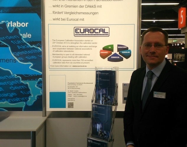 EUROCAL appears at Sensor & Test Exhibition in Nürnberg, Germany at PTB booth